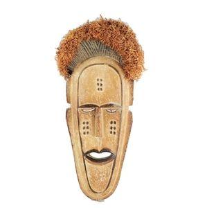 Vintage Hand Carved Nigerian Yoruba Wooden Mask